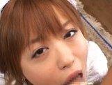 Hitomi Hayasaka lovely Japanese doll in bukkake picture 12