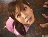 Hime Kamiya Asian teen in hard bukkakegets cum on her face picture 10