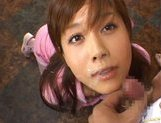 Hime Kamiya Asian teen in hard bukkakegets cum on her face picture 15