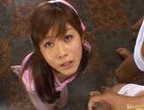 Hime Kamiya Asian teen in hard bukkakegets cum on her face picture 3