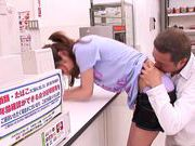 Kaede Matsushima cute babe public party with dick riding action
