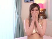 Busty Yukino Azumi stroking a tasty dick