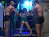 Tied up Japanese milf Hibiki Ohtsuki in a group orgy