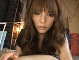 Rio Hot Asian model goes for a ride on a stiff cock picture 15
