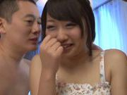 Savoury beauty Risa Itou bends over to suck and to get fucked