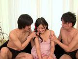 Skinny japanese teen Kokomi Suzuki loves threesome picture 9