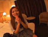 Japanese AV model in school uniform has a good time with her guy picture 4