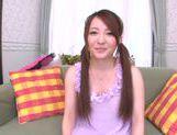 Gorgeous Japanese teen Yui Sasaki masturbates naughty pussy