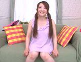 Gorgeous Japanese teen Yui Sasaki masturbates naughty pussy picture 6
