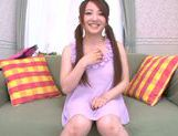 Gorgeous Japanese teen Yui Sasaki masturbates naughty pussy picture 7