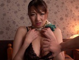 Naughty tit fuck session with busty Mio Takahashi picture 14