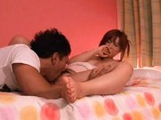 Kokomi Naruse is a beautiful japanese girl getting a cum facial