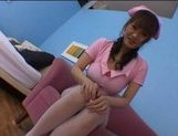 Japanese AV model is hot nurse who enjoys getting her pussy drilled