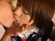 Japanese AV model enjoys a hard fucking in a dirty hotel