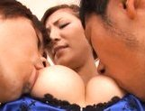 Yuna Shiina Lovely Japanese babe has a fuck in a threesome