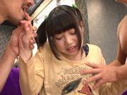 Rino Yoshihara gets fucked by two guys in threesome