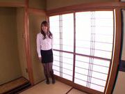 Sexy Japanese teacher Miku Ohashi gets screwed from behind