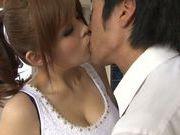 Busty Japanese milf Ramu Hoshino enjoys hardcore banging