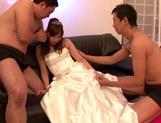 Threesome fuck adventure with a horny bride