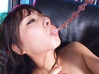 Topnotch Japanese girl Yuka Osawa fucks her anal with sex toys