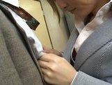 Senna Kurosaki Lovely Asian doll gives a hot blowjob picture 12