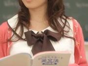Hot Asian teacher Arisa Misato fucked by many cocks enjoys bukkake