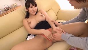 Busty asian teacher moans in steamy fuck