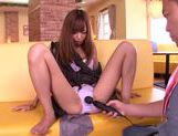 Fingering and facesitting with Aino Kishi picture 9