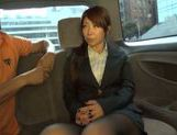 Exquisite Japanese cutie Yuka gets pounded in a car picture 13