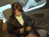 Exquisite Japanese cutie Yuka gets pounded in a car picture 14