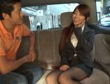 Exquisite Japanese cutie Yuka gets pounded in a car picture 8