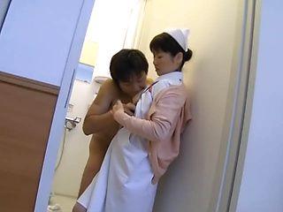 Late night adventure for a horny Japanese nurse