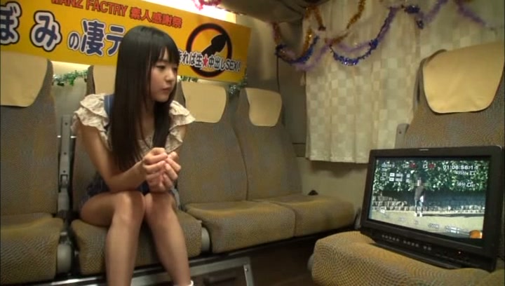 Mischievous teen girl with tiny tits Tsubomi enjoys cock in mouth