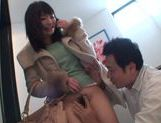 Beautiful Japanese teen Satomi Nomiya rides cock and gets creamed