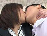 Alluring Asian milf Kanari Tsubaki in stockings teases cock