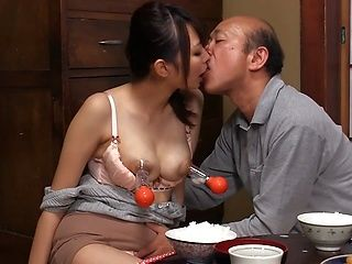 Horny mature housewife with milking tits Shuri Matsuno has some oral sex
