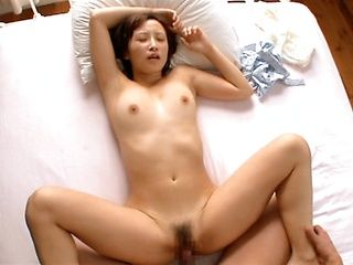 Naughty Asian babe Ayumi Kimino gets her kitty drilled