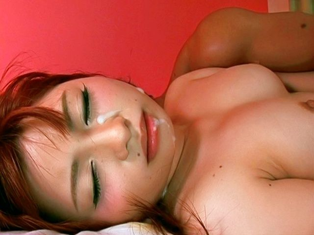 Kokomi Naruse is a beautiful japanese girl getting a cum facial