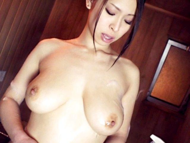 Juicy Asian milf Minami Ayase enjoys cumshot on her boobs