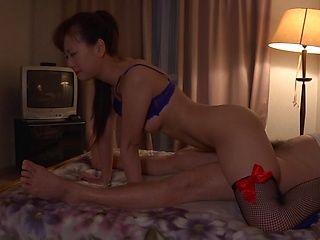 Hot Asian milf with trimmed pussy Yukino Kawai enjoys threesome sex