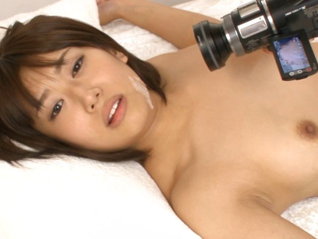 Teen Himari Wakana gets filmed while masturbating