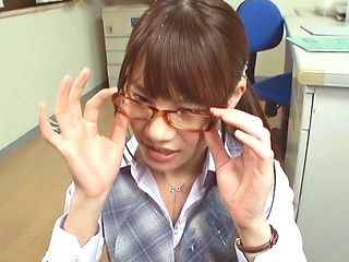 Young hottie Ai Nikaidou loves teasing her boss