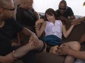 Interracial sex lover Maki Hokujo gets involved into nasty gangbang