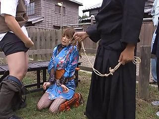 Sweet enslaved chick Miku Ohashi in a nasty group action