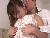 Superb Kokone Mizutani enjoys deep fucking her hairy pussy picture 13