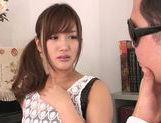 Superb Kokone Mizutani enjoys deep fucking her hairy pussy