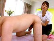 Insolent Japanese milf gives amazing massageasian schoolgirl, asian ass}