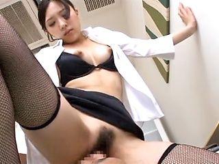 Nice ass of a hot MILF Rin Sakuragi in thong panties