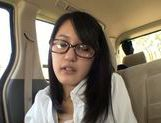 Horny Ai Wakana gets horny in the car and gives oral picture 12