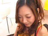 Miho Maeshima Asian doll gets a load of cum in the face picture 14